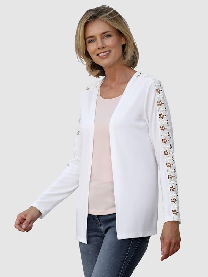 Dress In Reikäkirjailtu neuletakki, Valkoinen