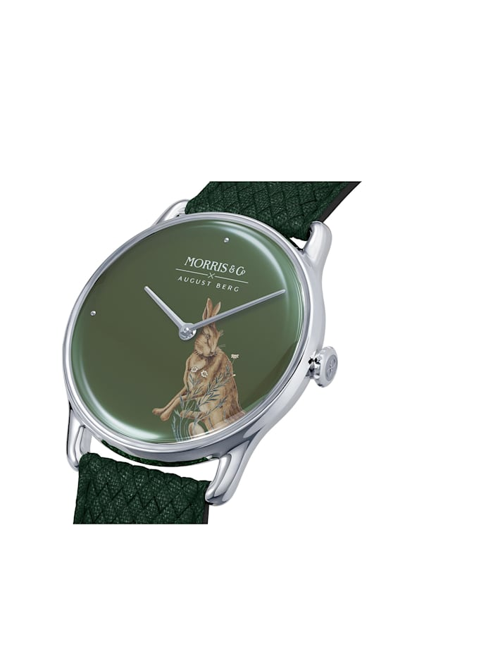 Uhr MORRIS & CO Silver Green Perlon 38mm