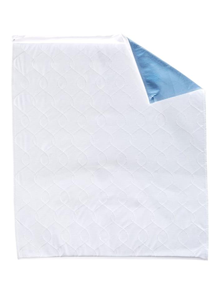 Maximex Incontinentiedekmatras, wit/blauw