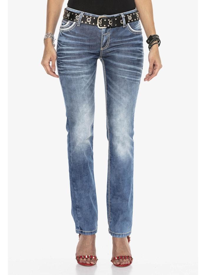 Cipo & Baxx Jeans mit trendiger Used-Waschung, Blau