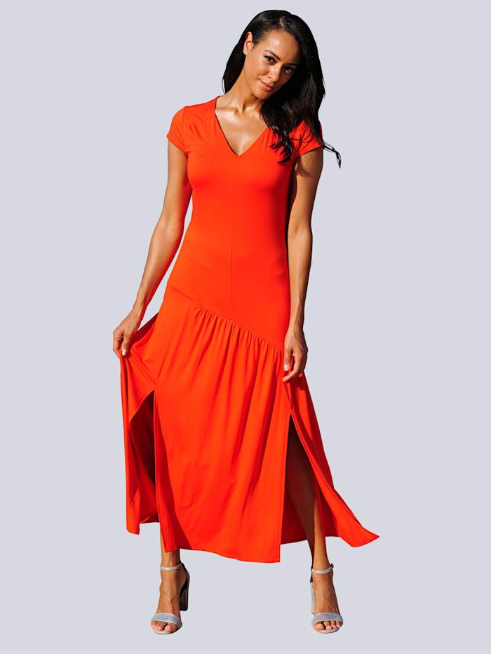 Alba Moda Strandkleid mit V-Ausschnitt, Orange