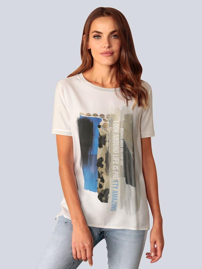 Marc Aurel T-Shirt mit attraktivem Druckmotiv, Weiß