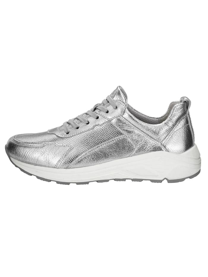 Sneaker van hoogwaardig metallic leer