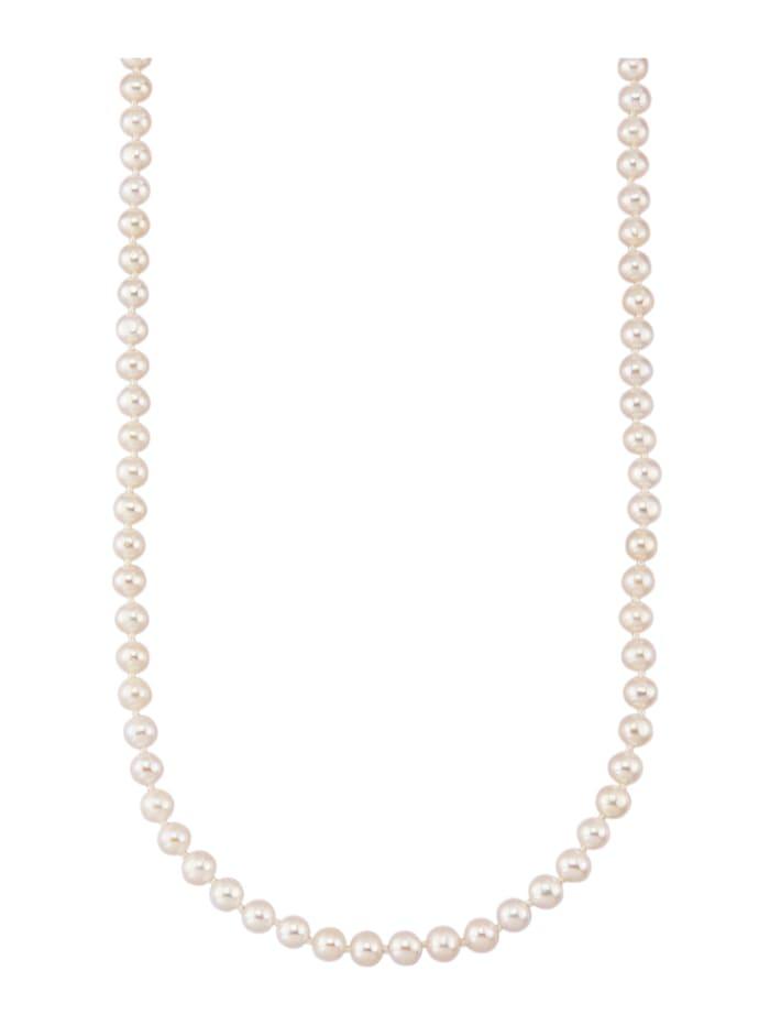 Diemer Perle Akoya-Zuchtperlen-Collier in Gelbgold 585, Weiß