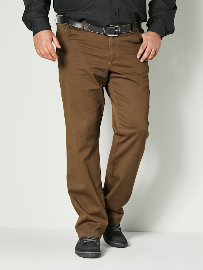 Men Plus Hose Straight Fit, Camel