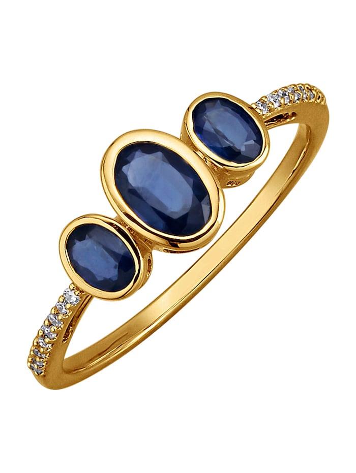 Amara Pierres colorées Bague avec saphirs, Bleu
