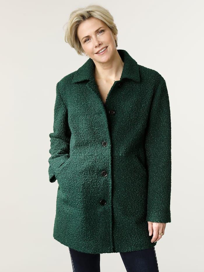 MONA Jacket in a bouclé-effect finish, Pine Green