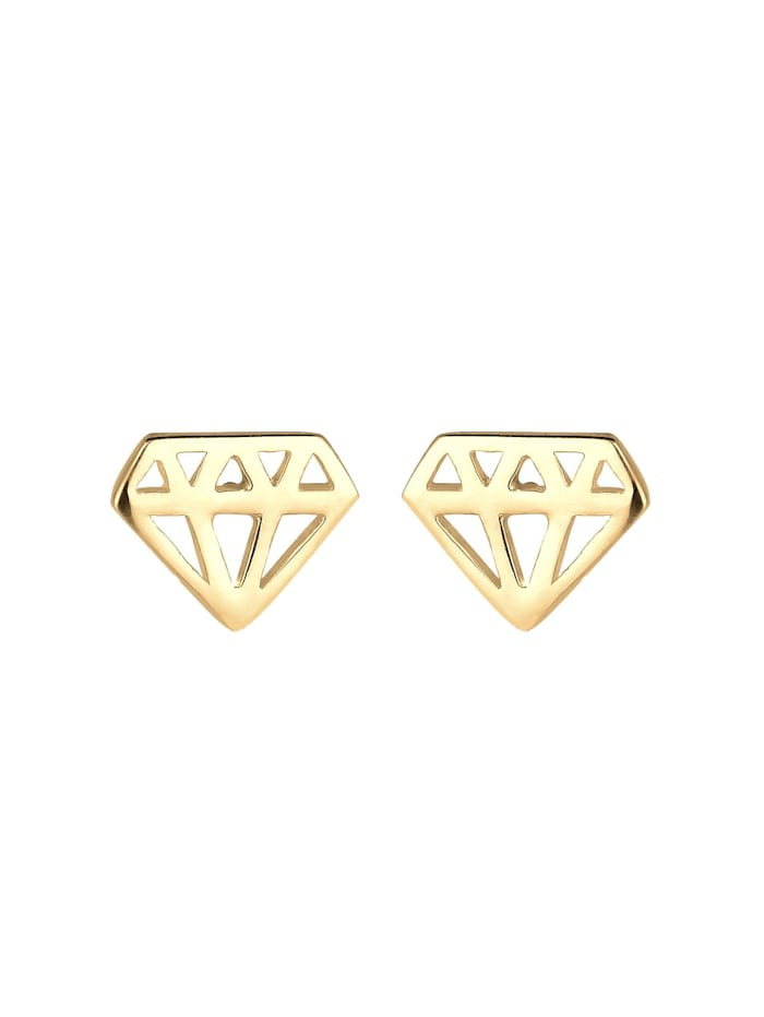 Ohrringe Diamant-Form Cut-Out Trend Filigran 925 Silber
