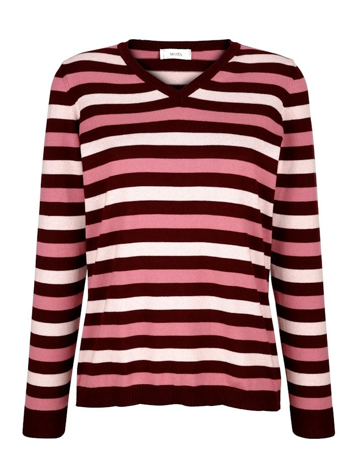 MONA Pullover zum Preisvorteil, Beere/Fuchsia/Rosé