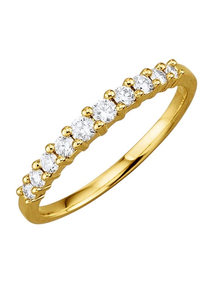 Diemer Diamant Kultainen timanttisormus, Valkoinen