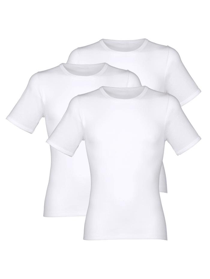 Pfeilring Unterhemden mit Halbarm 3er Pack, 3x weiß