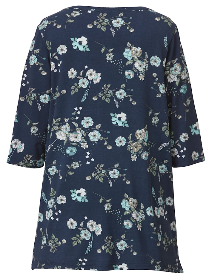 Tunika-Shirt mit floralem Muster