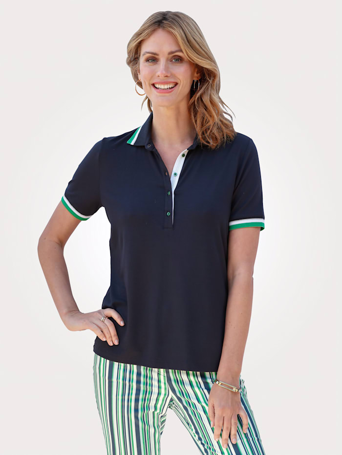 Polo shirt with an embellished back