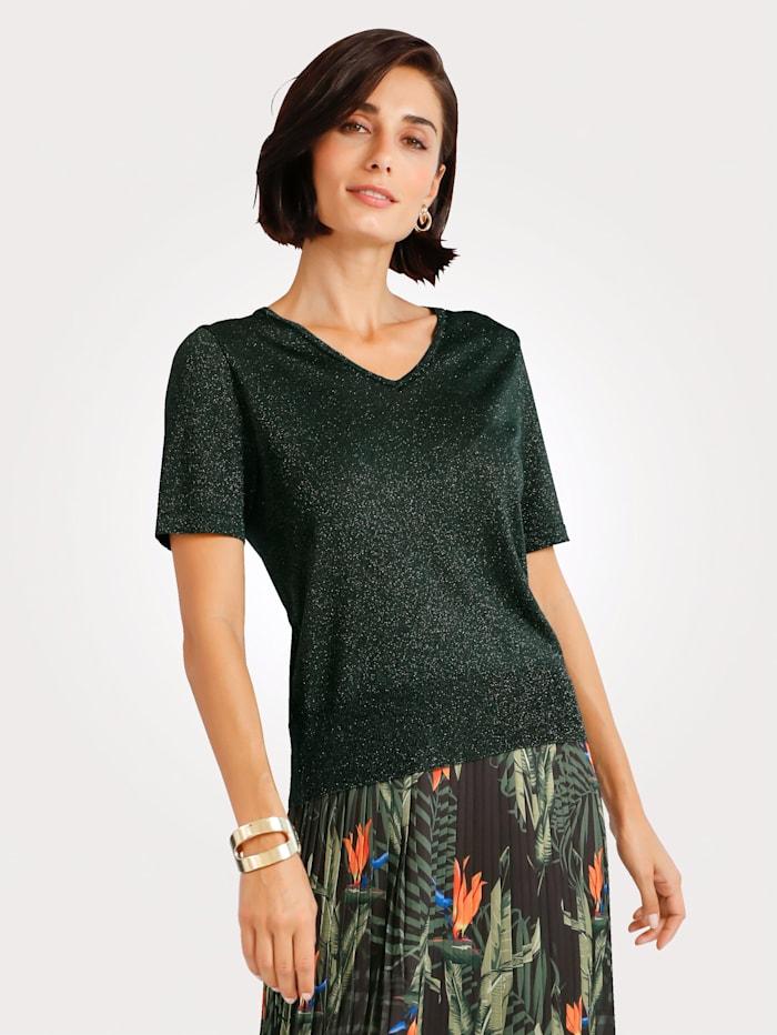 MONA Pullover mit Glanzgarn, Oliv
