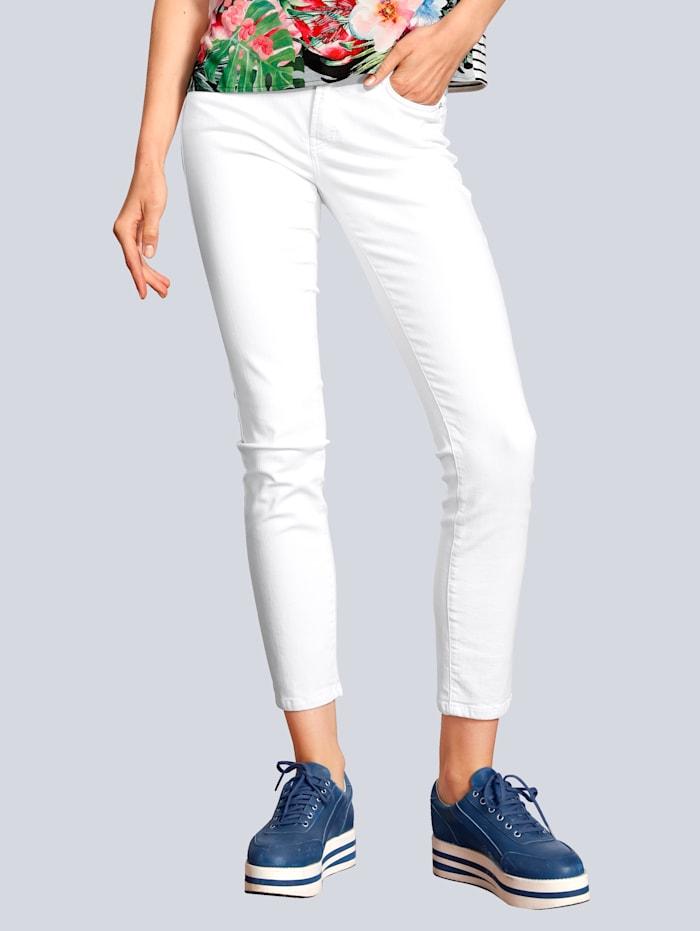 CAMBIO Jeans mit niedirger Leibhöhe, Weiß