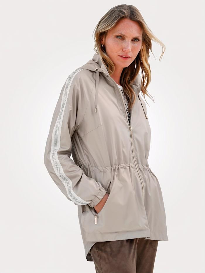 MONA Jacket with rhinestones, Beige
