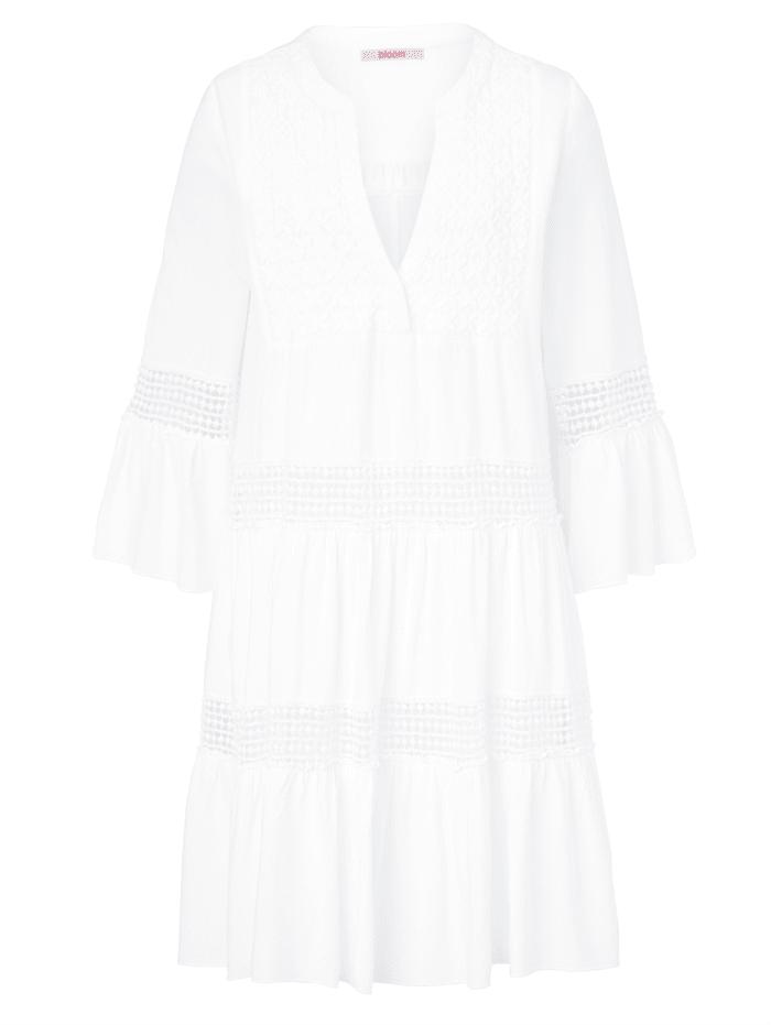 Bloom Kleid mit Spitze, Weiß