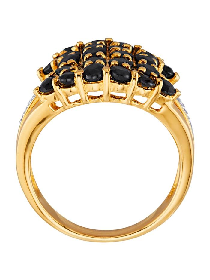 Bague à saphirs avec saphirs et diamants