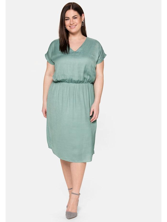 Sheego Cocktailkleid in leichtem Oversized-Look, salbeigrün