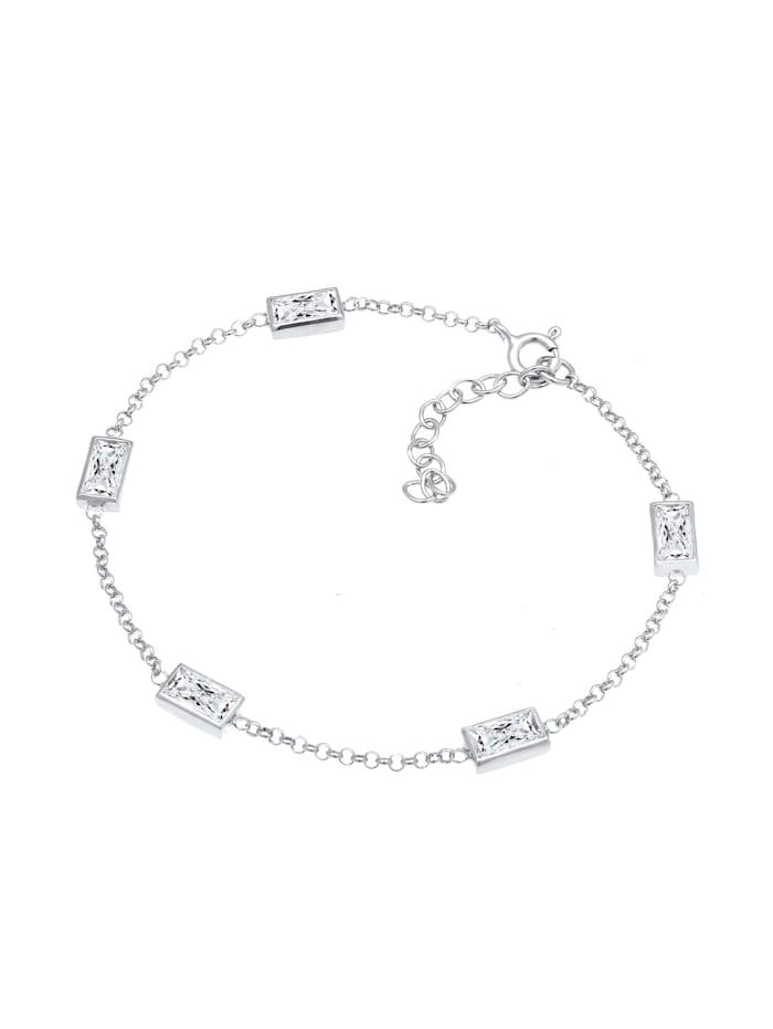Armband Klassisch Baguette Zirkonia Kristalle 925 Silber