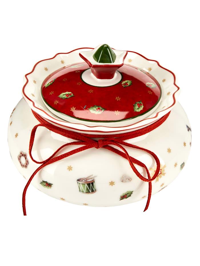 Villeroy & Boch Villeroy & Boch Gebäckdose klein Toys Delight, Weiß/Rot