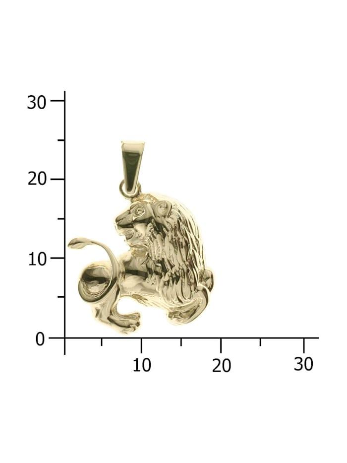 Anhänger - Tierkreiszeichen Löwe - Silber 925/000, vergoldet - ,