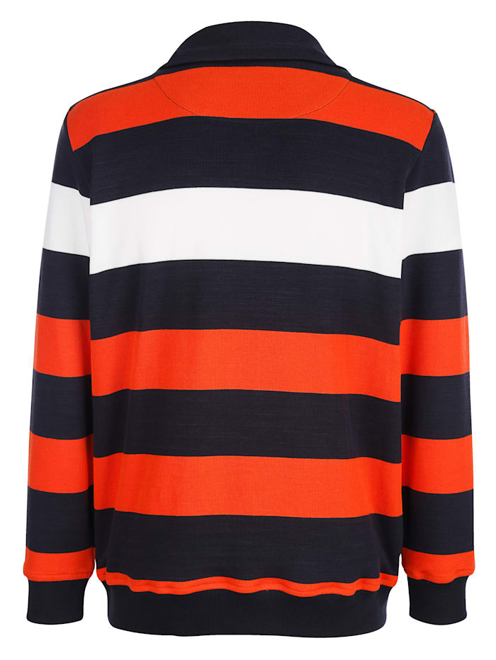 Sweatshirt med ränder