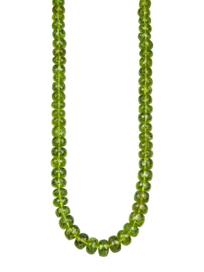 Diemer Farbstein Peridot-Kette mit Peridot, Grün