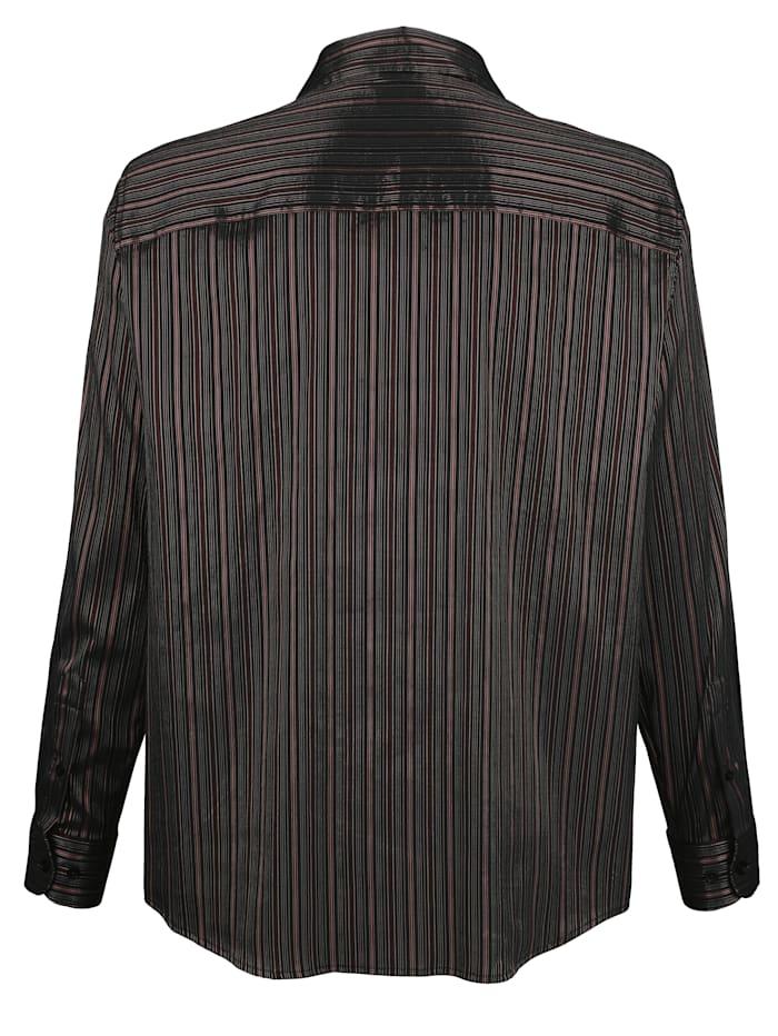 Overhemd met glanzende strepen