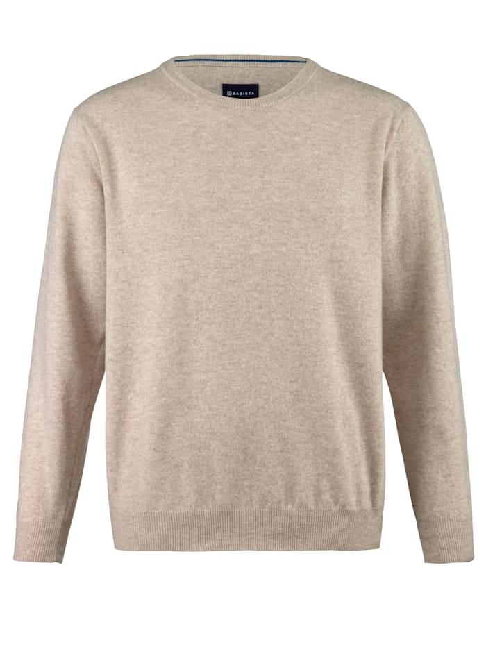 Babista Premium Wollpullover mit Kaschmir, Beige
