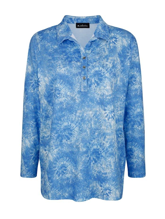 Sweatshirt in modischer Batik-Optik