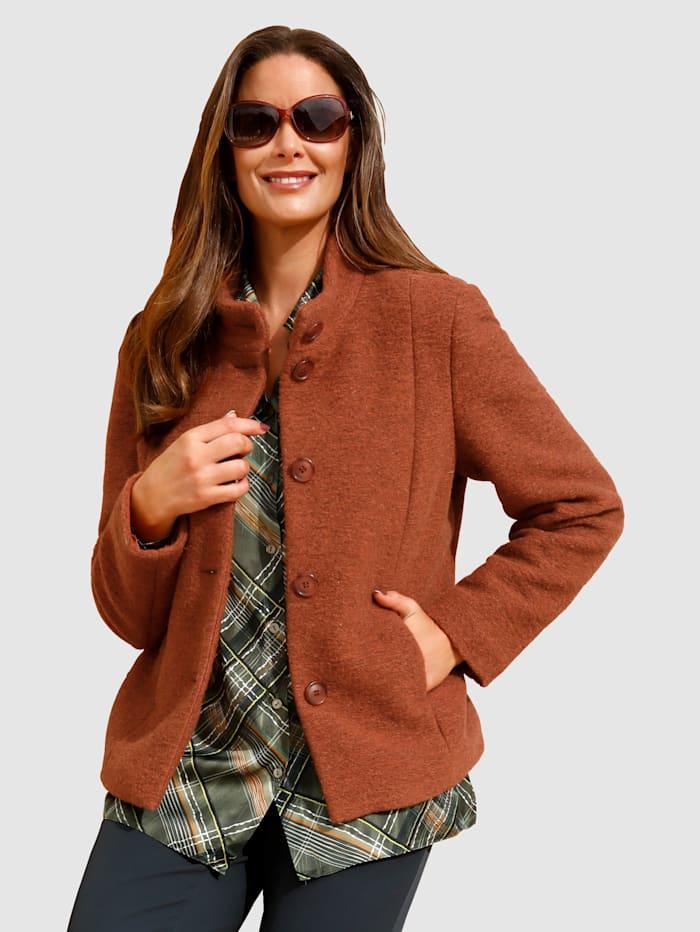 MIAMODA Jacke aus hochwertiger Woll-Qualität, Orange