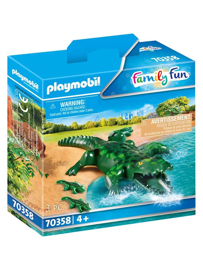 PLAYMOBIL Konstruktionsspielzeug Alligator mit Babys, bunt/multi
