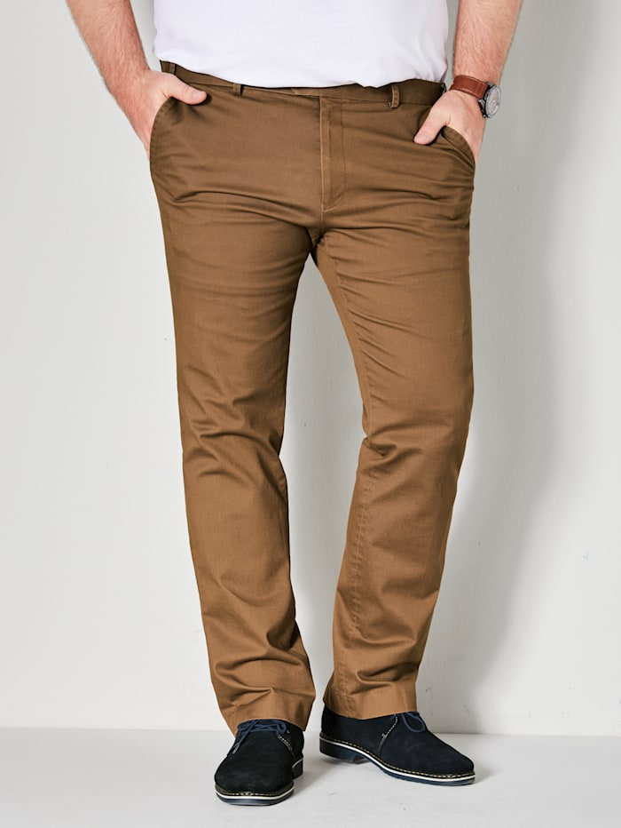 Men Plus Chino Straight Fit, Cognac