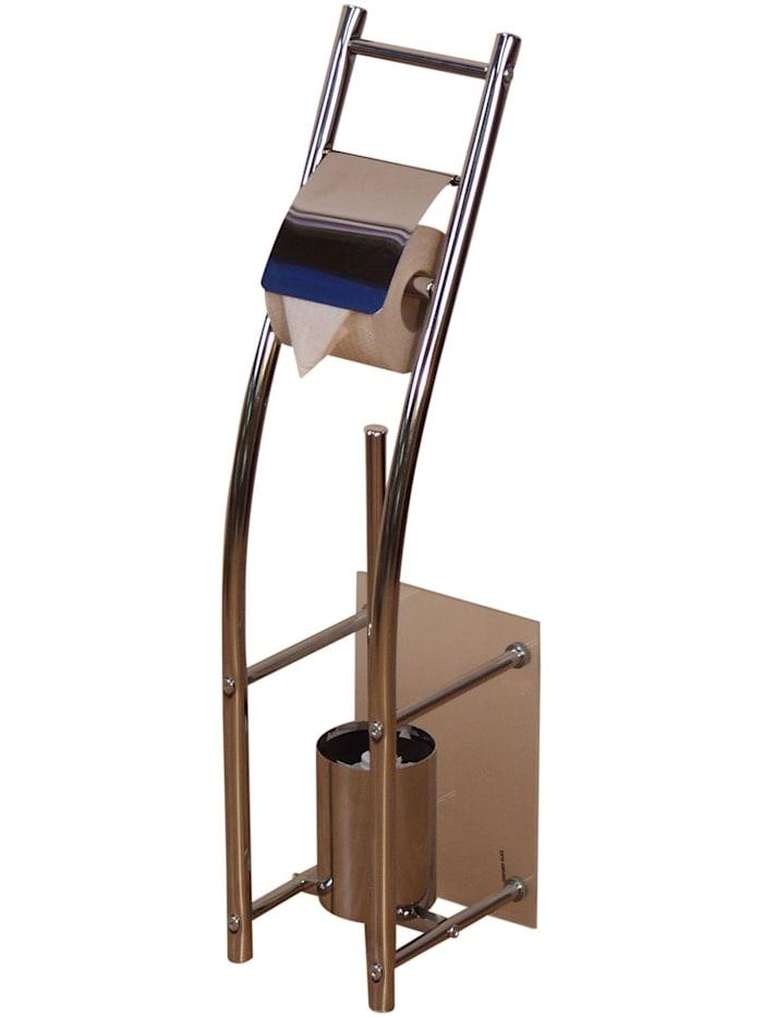 Möbel-Direkt-Online WC-Garnitur WC-Bürstenhalter, silber