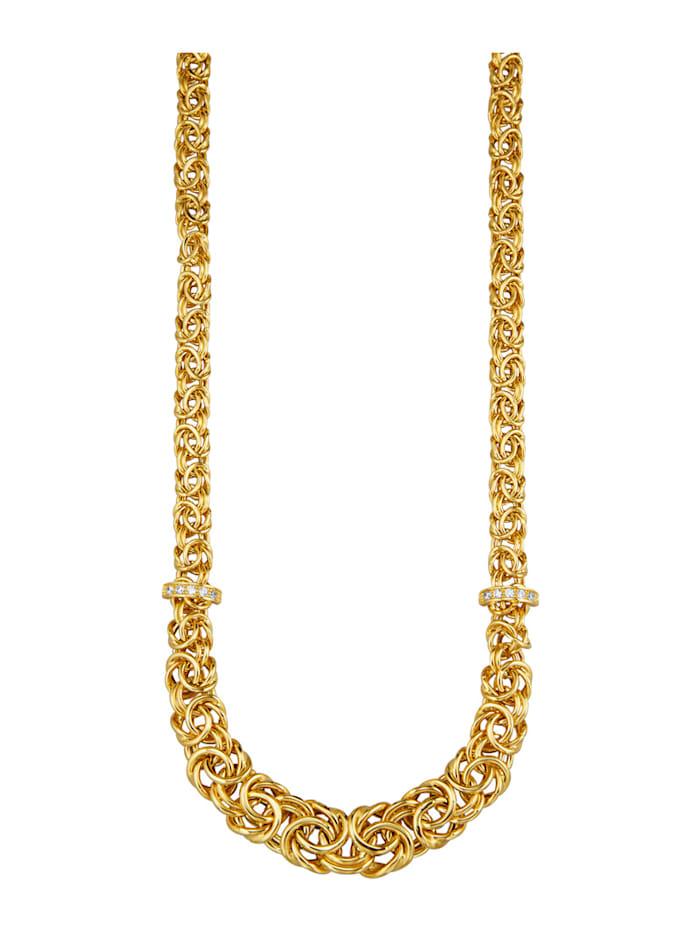 Diemer Gold Halsband av kejsarlänk med briljanter, Guldfärgad