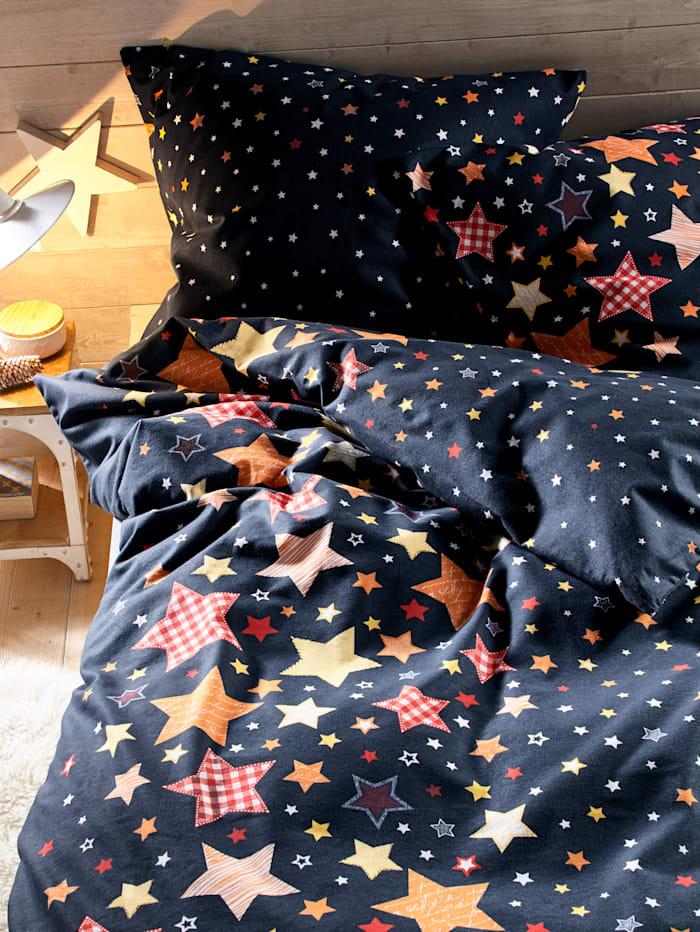 Webschatz Biber ložní prádlo Hvězdy 2-d., modrá pestrá