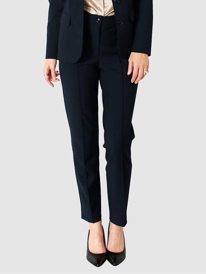 MONA Kalhoty s ozdobnými sklady, Černá