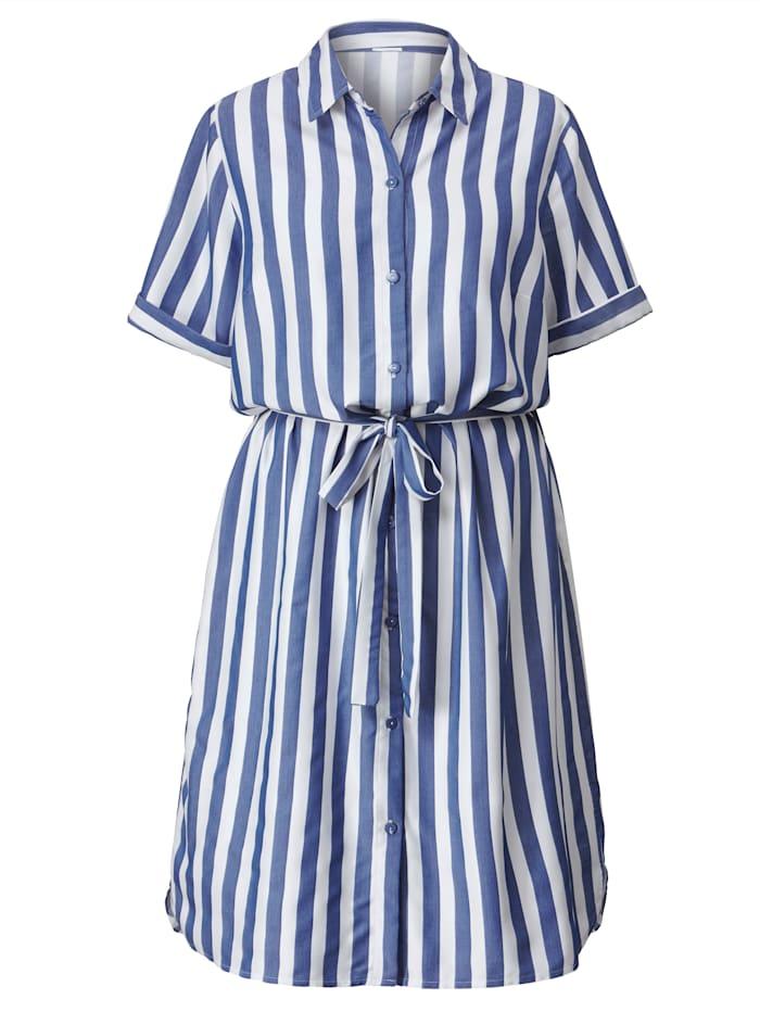 Kleid mit streckendem Streifendessin