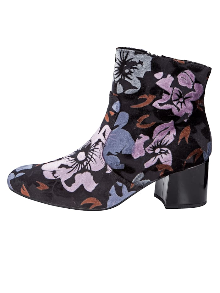 Ankle Boots with an elegant petal print