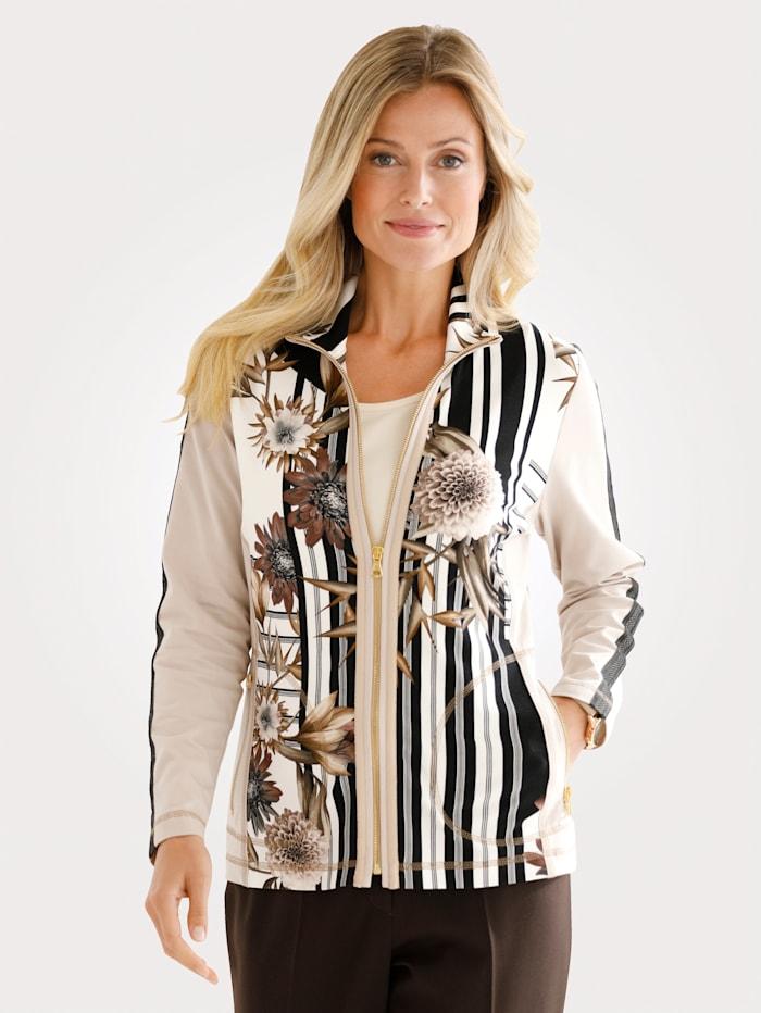 Tričkový kabátik v kontrastnom vypracovaní