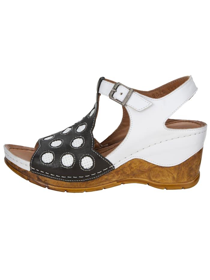 Sandales compensées en coloris harmonieux