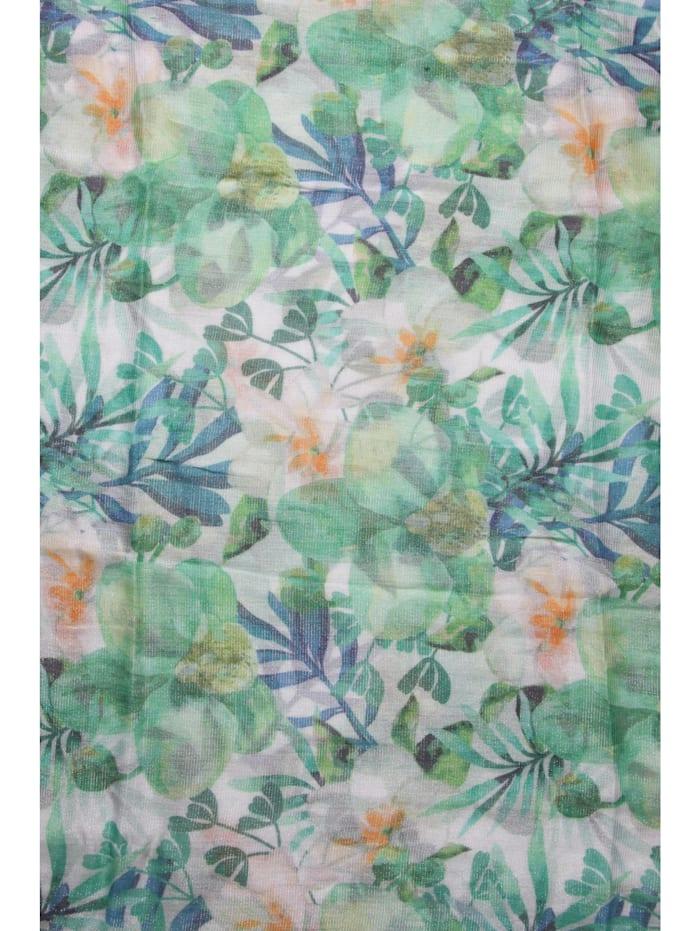 Luxus Schal Flora mit glitzernden Fäden durchzogen