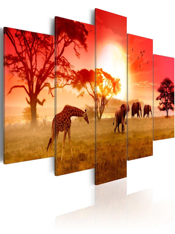artgeist Wandbild Sunny colours of Africa, brown,red,yellow,beige