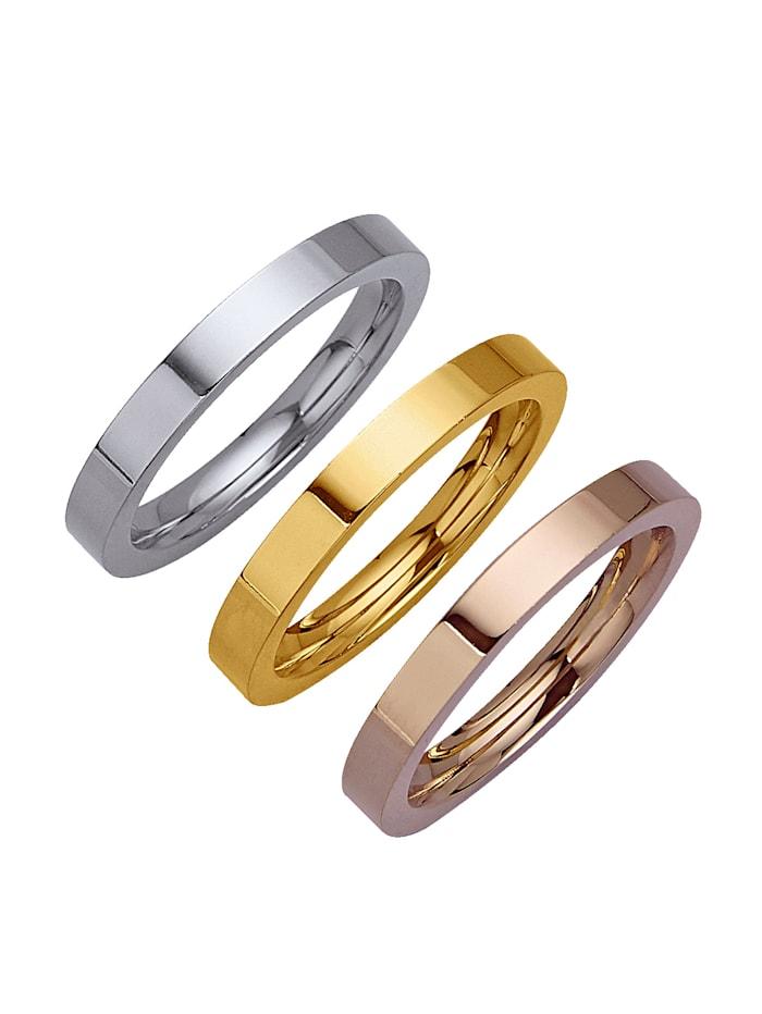 3tlg. Ring-Set aus Titan