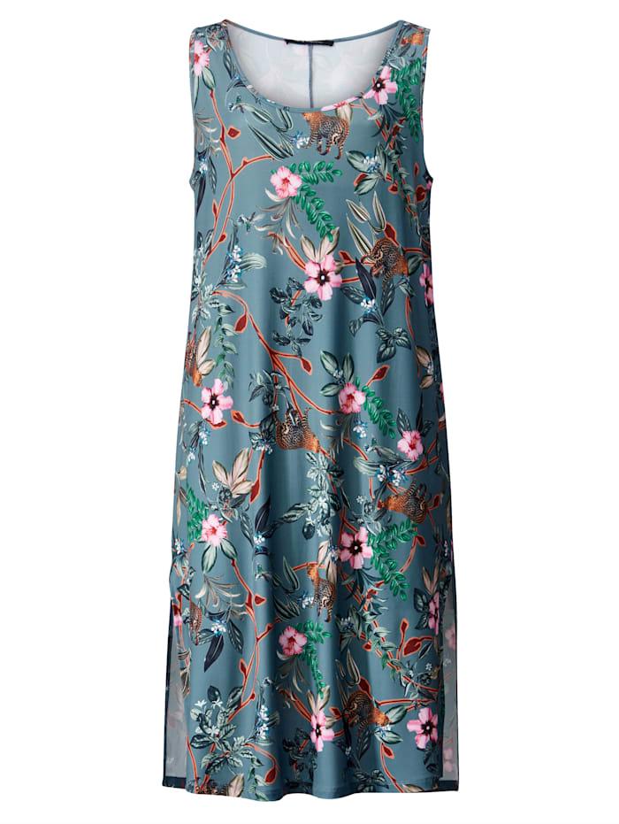 Jerseykleid mit hohen Seitenschlitzen