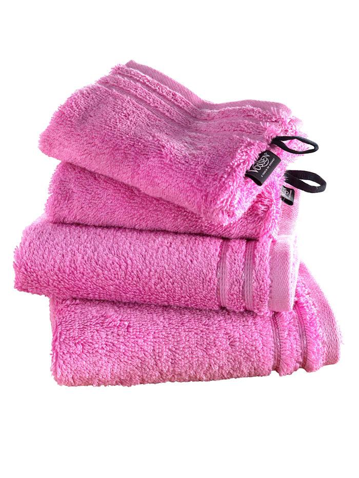 Vossen Handdoekenset effen, roze