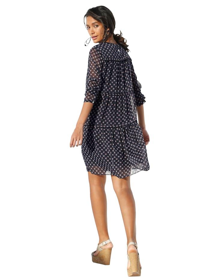 Kleid mit dekorativem Sternendruck