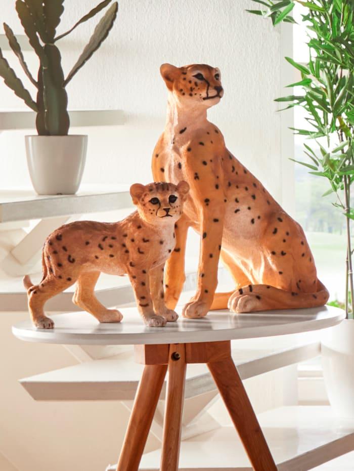 Dekofigur Geparden, Beige