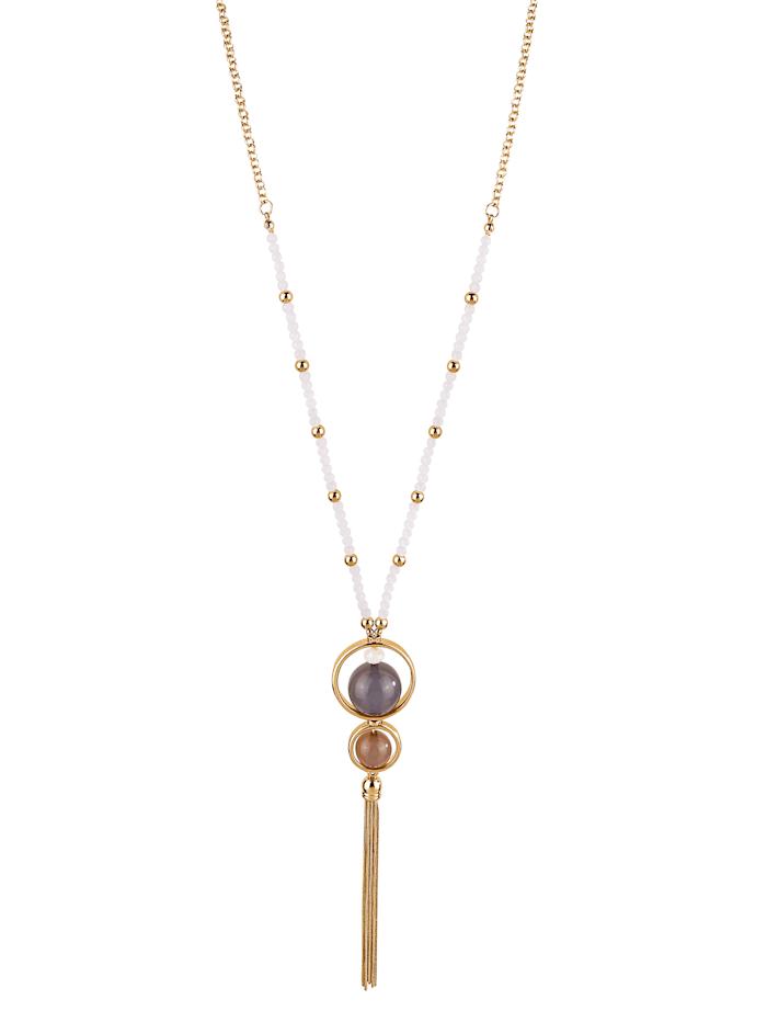 Halskette mit Kettenquaste, Multicolor